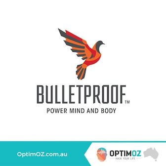 Image that says bulletproof power mind and body optimoz