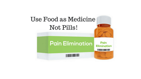 Pain elimination with food